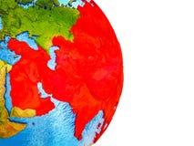 Carte de l'Asie sur terre 3D illustration libre de droits