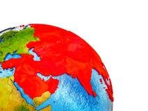 Carte de l'Asie sur terre 3D illustration de vecteur