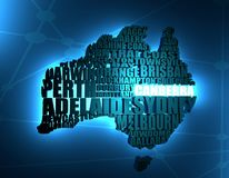 Carte de l'Australie illustration stock