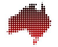 Carte de l'Australie illustration de vecteur