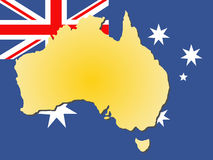 Carte de l'Australie illustration libre de droits