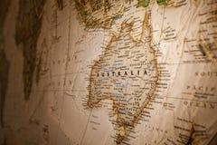 Carte de l'Australie Images stock