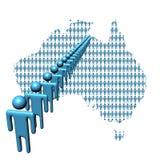 Carte de l'Australie avec des gens illustration de vecteur