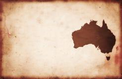 Carte de l'Australie de cru Images libres de droits