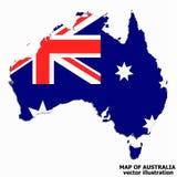 Carte de l'Australie Vecteur illustration de vecteur