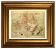 carte de l'australie vieille Photo stock