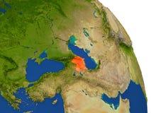 Carte de l'Azerbaïdjan en rouge illustration stock