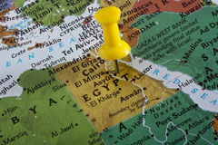 Carte de l'Egypte photographie stock libre de droits