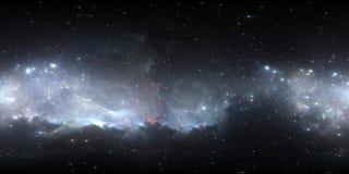 Carte de l'environnement 360 HDRI de réalité virtuelle Projection equirectangular de l'espace, panorama sphérique Nébuleuse de l' Illustration de Vecteur