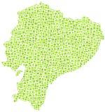 Carte de l'Equateur illustration de vecteur