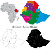 Carte de l'Ethiopie Image stock