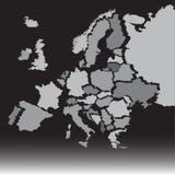 Carte de l'Europe Photos stock