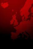 Carte de l'Europe image stock