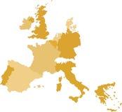 carte de l'Europe Centrale Image libre de droits