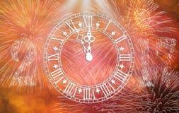 Carte de l'horloge 2017 dans la célébration Image stock