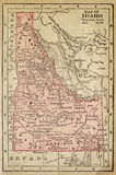 Carte de l'Idaho Image stock