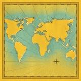 Carte de l'illustration du monde Photos libres de droits
