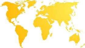 Carte de l'illustration du monde Image libre de droits