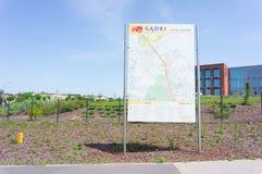 Carte de l'information Photo stock