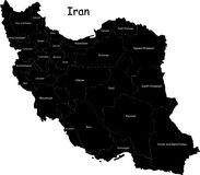 Carte de l'Iran de vecteur illustration de vecteur