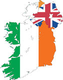 Carte de l'Irlande. Photos libres de droits