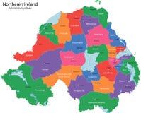 Carte de l'Irlande du Nord Photographie stock libre de droits