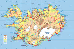 Carte de l'Islande Photo libre de droits