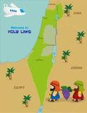 Carte de l'Israël avec deux espions illustration de vecteur