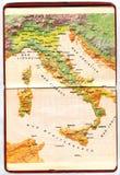 Carte de l'Italie Images stock