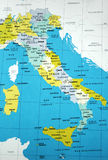 carte de l'Italie Photo stock