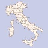 Carte de l'Italie avec des régions illustration libre de droits