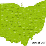 Carte de l'Ohio Photos libres de droits