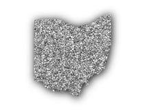 Carte de l'Ohio sur des clous de girofle illustration libre de droits