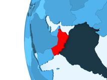 Carte de l'Oman illustration stock
