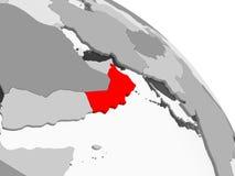 Carte de l'Oman illustration libre de droits