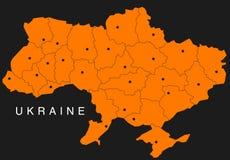 Carte de l'Ukraine illustration stock