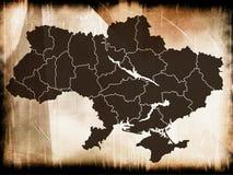 Carte de l'Ukraine Photo stock
