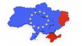 Carte de l'Ukraine Images libres de droits