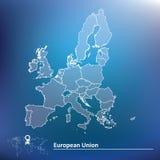Carte de l'Union européenne 2015 Photographie stock