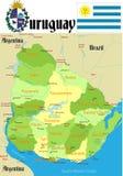 Carte de l'Uruguay. illustration libre de droits