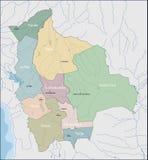 Carte de la Bolivie images stock