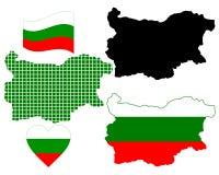 Carte de la Bulgarie Photographie stock