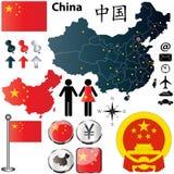 Carte de la Chine Photos libres de droits
