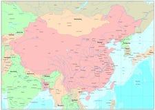Carte de la Chine Image libre de droits