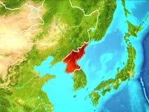 Carte de la Corée du Nord illustration de vecteur