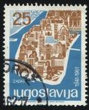 Carte de la Croatie Photographie stock