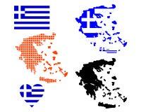 Carte de la Grèce Photo libre de droits