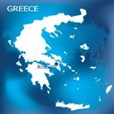Carte de la Grèce avec Athènes Photographie stock libre de droits