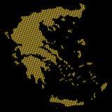 Carte de la Grèce avec des euro Photo stock