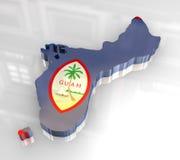 carte de la Guam de l'indicateur 3d illustration libre de droits